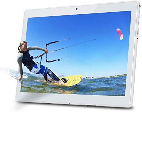 Deca Core Tablet de 10,1 Pulgadas Android 10.0, TYD-109 Tablet,4G LTE Dual SIM, 4 GB de RAM, 64 GB de Memoria, Pantalla táctil Full HD IPS, cámara Doble, Wi-Fi, Bluetooth/GPS, Color Plateado
