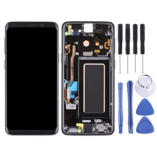 Reparatie reserveonderdelen vervangend LCD-scherm en Digitizer volledige montage met frame voor Galaxy S9 / G960F / G960F / DS / G960U / G960W / G9600(Grey), Zwart