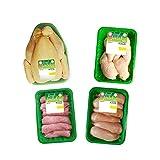 Royal Bernard - Assortiment Halal - Colis de Volaille Régionale Halal - 4 barquettes de produits différents