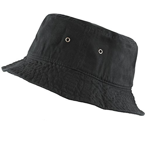 9cf161df00c THE HAT DEPOT 300N Unisex 100% Cotton Packable Summer Travel Bucket Hat