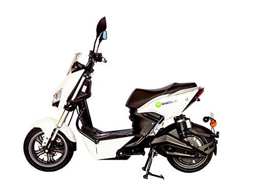 GinkGo R1 Elektroroller mit Straßenzulassung - Zweisitzer - 45 km/h - bis zu 120 km - herausnehmbarer Lithium Ionen Akku - weiß