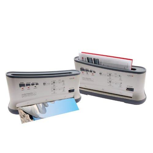 Olympia TBL 1300 Combo Thermobindegerät A4 (Heiß- und Kaltlaminieren, 80-125 Micron, Bis 200 Blatt, Bindegerät für Thermo-Bindemappen, Thermobinder und Laminiermaschine in Einem)