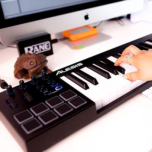 Alesis V49 - Clavier Maître USB-MIDI 49 Touches Portable avec 8 Pads Sensibles Rétroéclairés, 4 Encodeurs Assignables, et Suite de Logiciels Professionnels avec ProTools | First Incluse