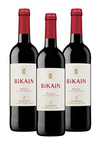 Vino tinto DOC Rioja 2020 Bikain (Cajas 3 botellas de 0,75cl)