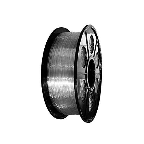 YANGDONG 0,5 Kg PETG-transparentes Material, 1,75mm Druckverbrauchsmaterial, 3D-Drucker-Lichtlinie, Keine Wette Auf Dem Kopf, Kein Ziehen (Color : Clear 0.5KG)