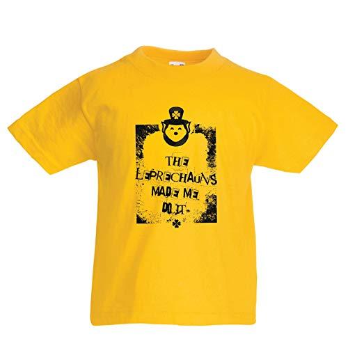 lepni.me Kids T-Shirt De Leprechauns maakte me doen het, St. Paddy's Day Citaten