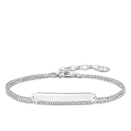Thomas Sabo D_LBA0003-725-21-L19v - Pulsera para mujer (plata 925, 0,5 ct), color blanco