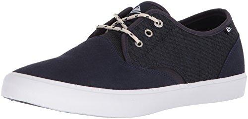 Quiksilver Men's Shorebreak Deluxe Sneaker, Grey/Blue/White, 6 M US