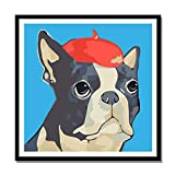 zxddzl DIY Flor Digital Paisaje Planta Pintura al óleo Pintada a Mano Color Pintura al óleo Animal Decorativo b036 Bulldog 30 * 30