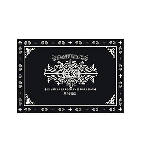 Unbekannt Skandinavien Teppich Moderne einfache Schwarz-Weiß-Wohnzimmer Couchtisch Schlafzimmer Nachttisch Halle Mode Rechteck Teppich Teppiche/Matte (größe : 80 * 120cm)