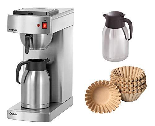 Bartscher Kaffeemaschine Aurora 20 + 250 Korbfilter + 2. Isolierkanne