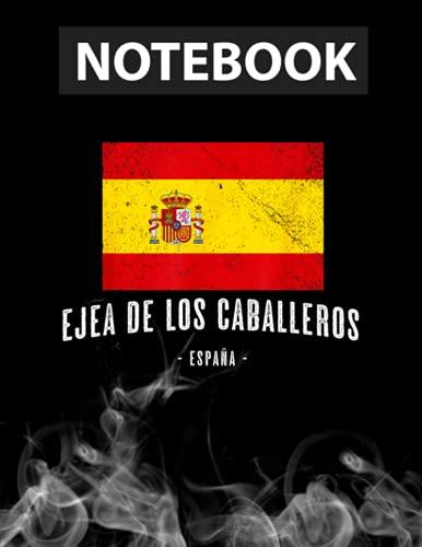 Ejea de los Caballeros Spain   ES Flag City - Bandera Ropa - Notebook Journal Line/ 130 Pages / Large 8.5''x11''