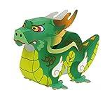 Dragon Papercraft 3D Papel Modelo Padre-Hijo DIY Animales de Dibujos Animados Kindergarten Hecho a Mano Origami Desarrollo Educativo para niños Regalo de Sorpresa para niños