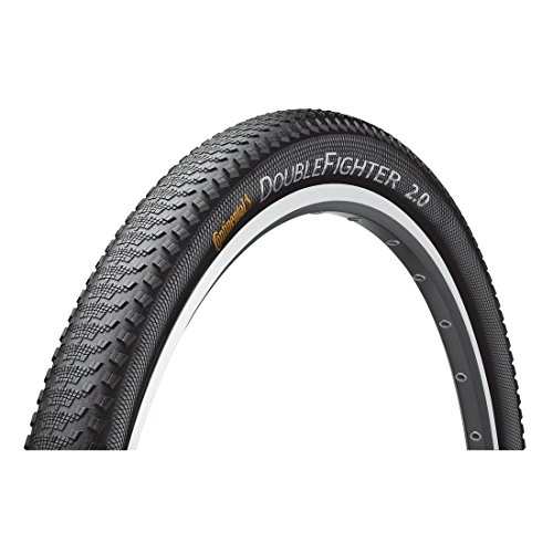 Continental MTB, Llanta para bicicleta Double Fighter II, Negro