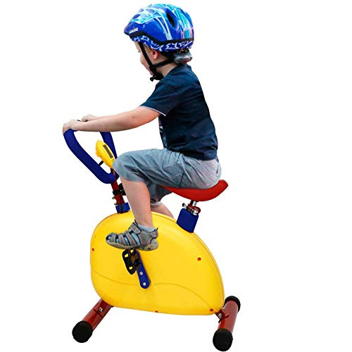 RIYIFER Bicicleta De Ciclismo Interior para Niño,Niño Bicicleta De Ejercicio,Equipo De Fitness Entrenamiento Resistencia Ajustable Adecuado para Niño De 3-8