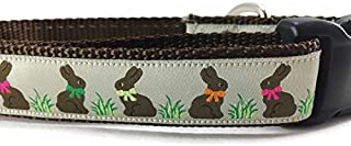 Easter Dog Collar, Caninedesign, Bunny, 1 inch Wide, Adjustable, Nylon, Medium and Large