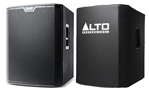 Alto TS218S Subwoofer + Cover Set - 18 Zoll Tiefton Treiber - 625 Watt Continuous / 1250 Watt Peak Class D - Stereo XLR/Klinke Kombi-Eingänge - Set inklusive Schutzhülle