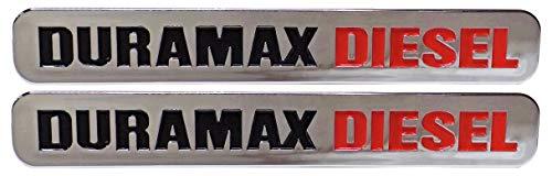 Chrome Door Badges Emblems for 6.6l Duramax Diesel Pair Set of 2