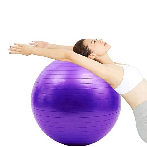 Lsooyys Pelota de ejercicio de 55 cm para fitness, pelota de yoga engrosada a prueba de explosiones, ejercicio en casa, gimnasio, pilates, equipo de equilibrio
