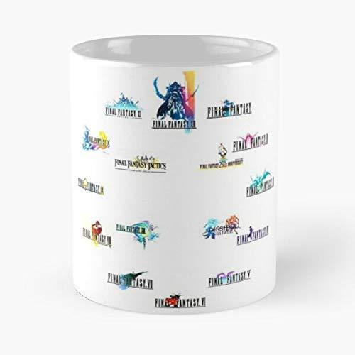 Skelanimals Videogame Square Gamer Enix Ff9 9 Final Fantasy Game Squaresoft Best Mug Tiene 11oz de Mano Hechas de cerámica de mármol Blanco