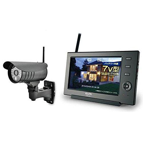 ELPA(エルパ) ワイヤレス防犯カメラ&モニターセット スマホ対応 CMS-7110 1818500