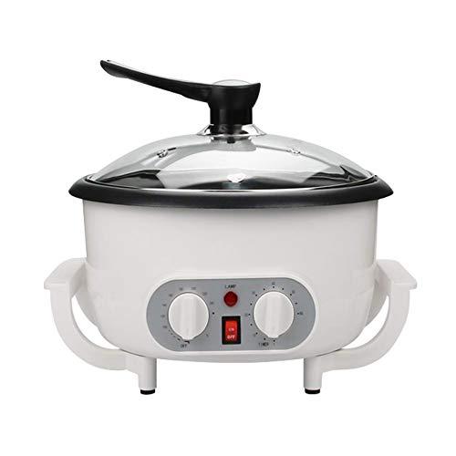 [2020 actualización] SEAAN - Máquina de café tostadora de café, acero inoxidable para el hogar, 220 V, tostadora eléctrica de grano de café con temporizador de 1200 W, tostadora de café en casa