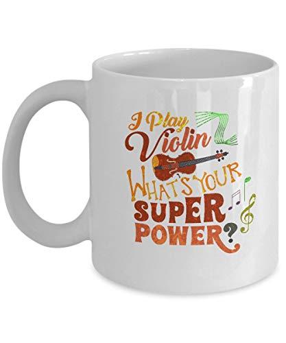 Viool koffiemok - ik speel wat je superpower is - geschenken muzikanten - 11 oz keramische beker