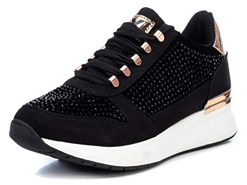 XTI 44365, Zapatillas Mujer, Negro, 38 EU