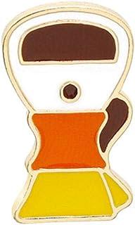 Chinkyo Broche para máquina de café o cafetera esmaltada, para colgar en la ropa, adorno de joyería