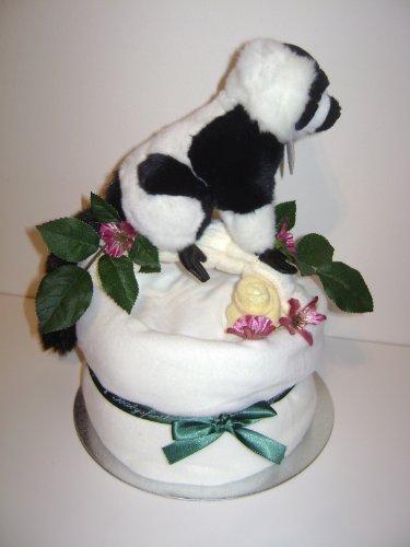 Partidas por la mitad bebé Unisex de color oscuro/caja de regalo de lujo de regalo de Lemur superado de pañales de diseño de pastel de cesto rectangular grande para ropa