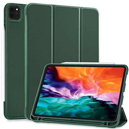 SIWENGDE Case for iPad Pro 11 2020& 2018, Support iPad 2nd Pencil Charging & Pair,Hard Cover with Auto Sleep/Wake,Full Body Protective Rugged Shockproof Case for iPad Pro 11 Inch 2020 (Midnight green)