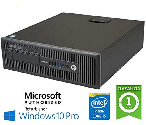 PC HP Elitedesk 800 G1 Sff i5-4570 8 GB 500 GB Win 10 Pro con Licencia Nueva Simpaticotech Mar Microsoft Authorized Refurbisher (Reacondicionado)