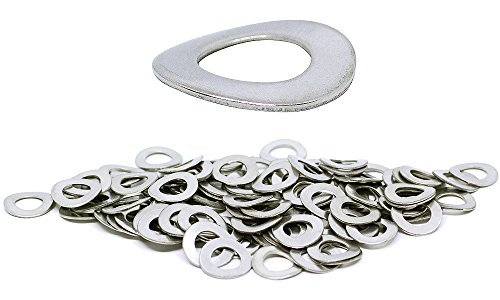 (100pcs) BelMetric M8 Wave Stainlesss Steel Corrosion Resistant Washer - DIN 137B, 15mm Outer Diameter Shiny WW8BSS