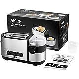 Aicok Toaster, 3 in 1 praktischer Automatik Toaster mit Eierkocher und elektrischee Pfannen, (1250 Watt, bis zu 7 Bräunungsstufen und 2 Brotscheiben, gebürsteter Edelstahl) - 8