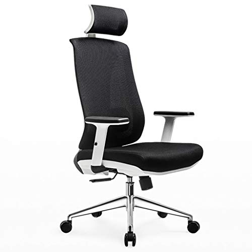 Chairs,Offce Chair Computer Chair Ergonomic Chair Household Swivel Chair Waist Belt Office Chair Game Seat WEIYV (Color : Black and White, Size : 120-126.5cm)