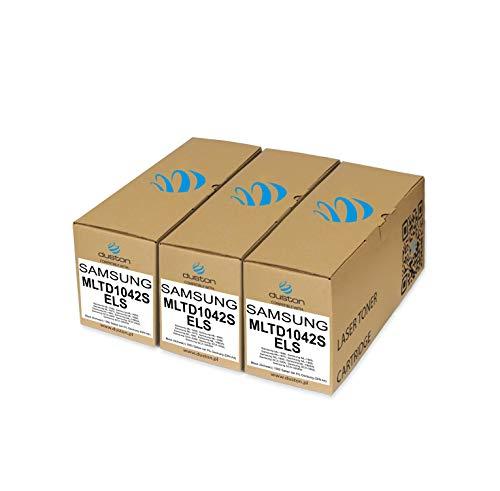 3x MLTD1042S/ELS, MLT-D1042S Toner nero rigenerato Duston compatibile con Samsung ML 1660 1665 1860 1865 1865 W, SCX 3200 3205 3205 W