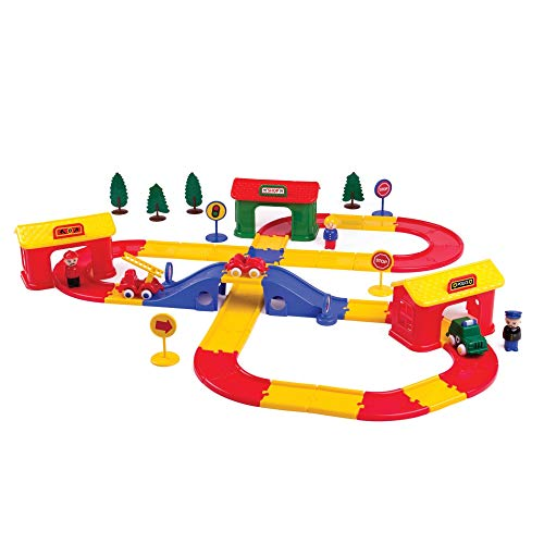 Viking Toys - Stockholm City Playset - Includes Track, Vehicles, Figures, Buildings and Accessories, for Ages 1 Year +