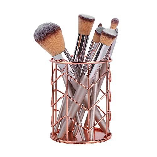 Cosmetische emmer, multifunctionele metalen ijzer holle make-up gereedschap opbergdoos, pennenhouder, opbergdoos voor briefpapier(#1)