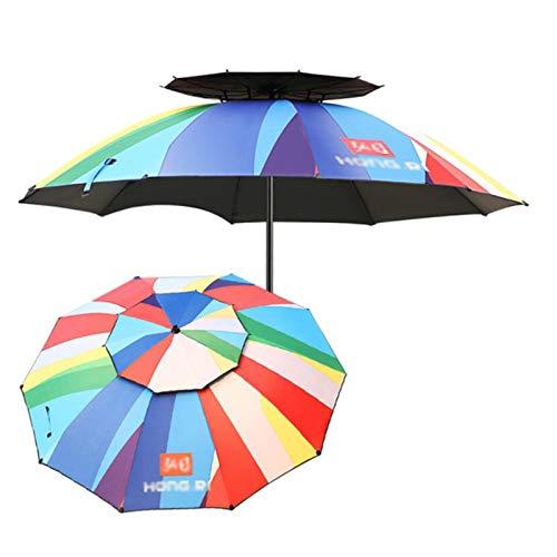 outdoor product Parapluie de Pêche en Plein Air,Parapluie de Pluie Pliable Double Couche Réglable À 360 ° Parapluie Parapluie Anti-Ultraviolet Parasol,Parapluie Coupe-Vent Parapluie de Pêche