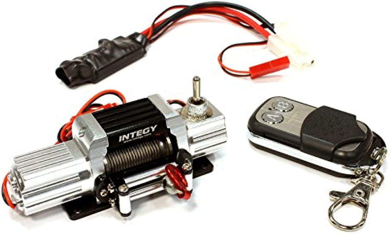Integy RC Model Hopups C25589SILVER T7 Realistic High Torque Mega Winch w  Remote for Scale Rock Crawler 1 10 Size