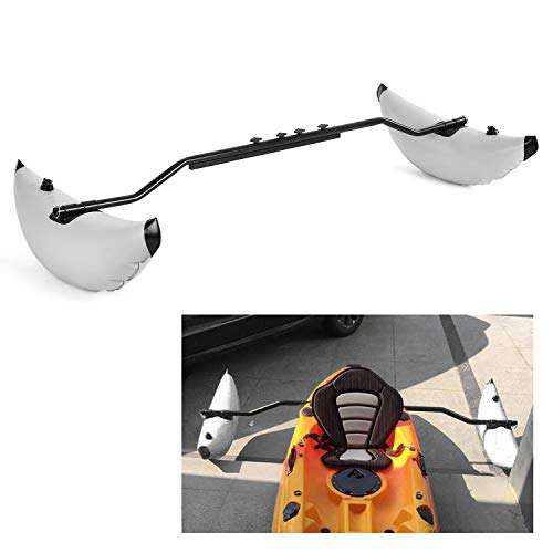 Roeam Kayak Outrigger Kayak PVC Inflatable Outrigger Float with Sidekick Arms Rod Kayak Boat Fishing Standing Float Stabilizer System Kit(Grey)