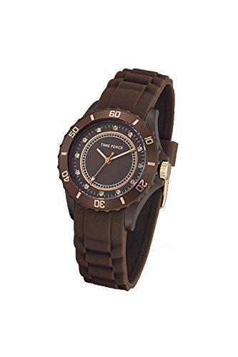 TIME FORCE Reloj Analógico para Mujer de Cuarzo con Correa en Caucho TF4024L15