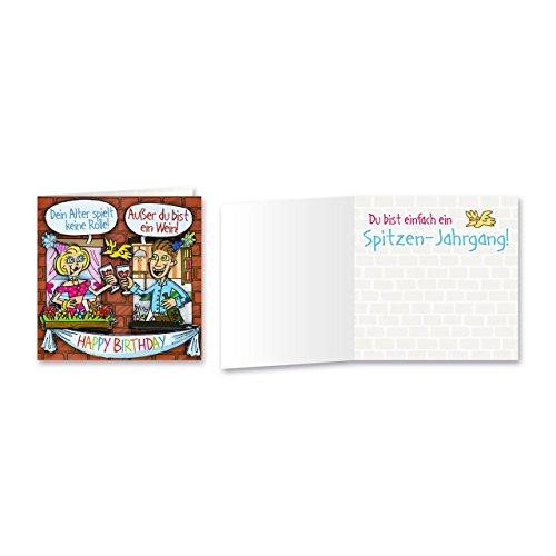Sheepworld, Gruss & Co - 90028 - Klappkarte, mit Umschlag, Geburtstagsgrüsse mit Pop Nr. 28, Dein Alter spielt keine Rolle! Außer du bist ein Wein! Happy Birthday