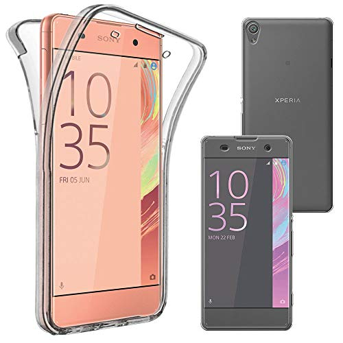 ebestStar - Cover Compatibile con Sony Xperia XA, XA Dual Custodia Protezione Integrale Silicone Gel TPU Morbida e Sottile, Trasparente [Apparecchio: 143.6 x 66.8 x 7.9mm, 5.0'']
