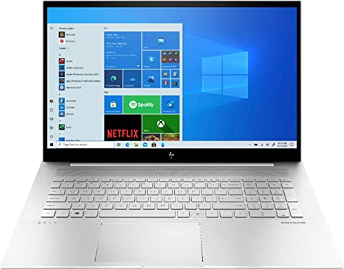 HP Envy 17.3' FHD Touch-Screen Laptop   Intel Core i7-1165G7   Iris Xe Graphics   32GB RAM   1TB SSD   Backlit Keyboard   Fingerprint Reader   Windows 10 Home   Silver   with HDMI Cable Bundle