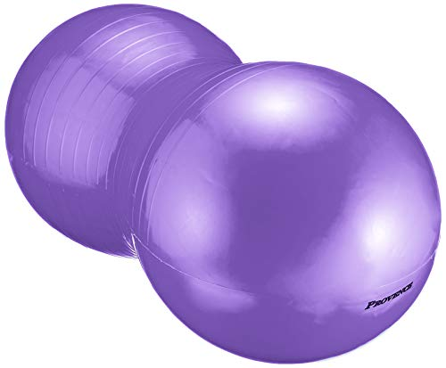 PROVENCE(プロヴァンス) アンチバースト ピーナッツ型 ヨガボール バランスボール エクササイズ ピラティス ポンプ付き パープル PV-62 パープル