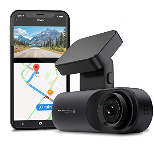 DDPAI Dash Cam Mola N3 GPS Front Dash Cam 1600P, 2K Dash Cam Recorder Front Car Accident Dashboard Camera for Car| Infrared Night Vision | GPS Logging |24hr Parking Mode | App Wi-Fi| 128GB max