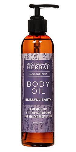 Lavender Body Oil, After Shower Body Oil, Bath Oil, Dry Skin Moisturizer, Blissful Earth, Essential Oil Scent with Lavender Vetiver and Clary Sage, Natural Skin Care, Ora's Amazing Herbal