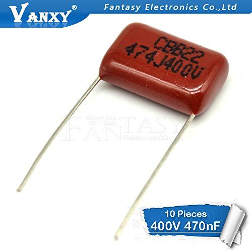 10PCS 400V474J 0.47UF Pitch 15mm 470NF 400V 474 CBB condensador de película de polipropileno