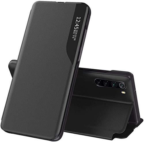 Redmi Note 10 Pro ケース手帳型 Redmi Note 10 Pro Max ケース 人気 スマホ リング ケース フリップ ケース360度 保護 携帯カバー (Redmi Note 10 Pro, 黒)